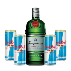 Combo Gin Tanqueray  750 ml + 4 Red Bull Sugar Free