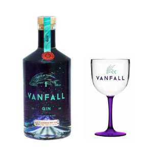 Kit Gin Vanfall - 750 ml + Taça Bicolor
