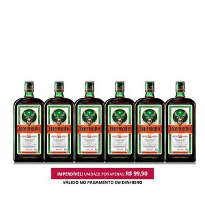 Licor Jagermeister - 700ml - 1 Cx. / 6 Unid.