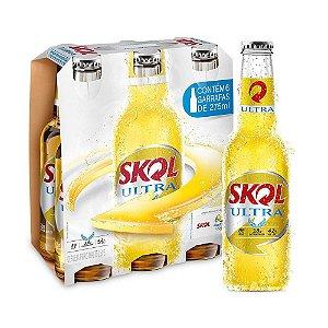 Cerveja Skol Ultra - 275 ml - Caixa com 6 unidades
