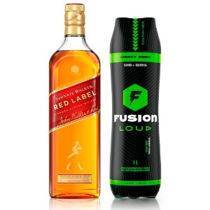 Combo Whisky Red Label 1L + Fusion 1L