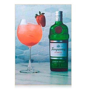 Quadro Tanqueray Personalizado - Strawberry Drink