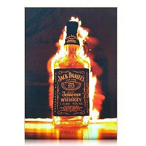 Quadro Jack Daniel's Personalizado - On Fire