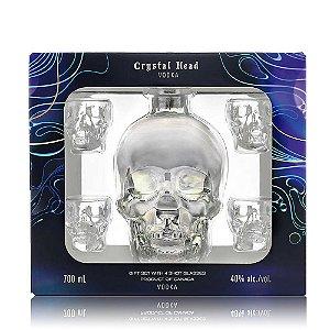 Kit Crystal Head 700 ml + 4 Shots Exclusivos