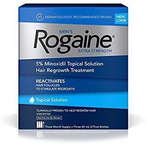 Rogaine Extra Strength 5% Minoxidil/ Liquido / 3 Meses / POUCAS UNIDADES / PRONTA ENTREGA