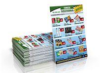 Encartes de Mercado - Tamanho 30x42cm - Papel Couchê 90g - Colorido - 1 Dobra
