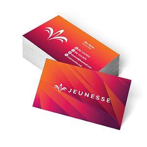 1.000 Cartão de Visita Jeunesse - Tamanho 9x5cm - Frente e Verso Colorido
