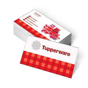 1.000 Cartão de Visita Tupperware -  - Tamanho 9x5cm - Frente e Verso - Verniz Total Frente