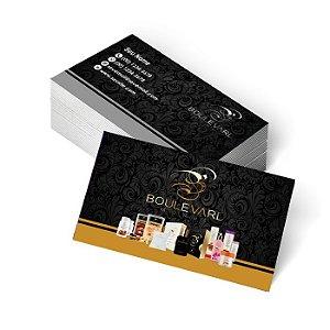 1.000 Cartão de Visita Boulevard Monde - Tamanho 9x5cm - Frente Colorido - Verso Preto e Branco