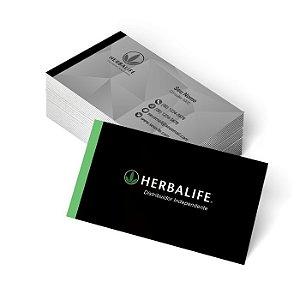 1.000 Cartão de Visita Herbalife - Tamanho 9x5cm - Frente e Verso Colorido