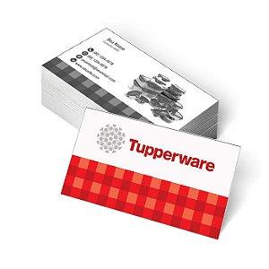 1.000 Cartão de Visita Tupperware - Tamanho 9x5cm - Frente Colorido - Verso Preto e Branco