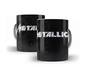 1 Caneca em Porcelana Metallica