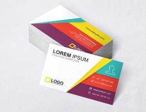1.000 Cartão de Visita - Modelo 01 - Tamanho 9x5cm - Frente e Verso - Papel Couchê 250g - Verniz Total Frente