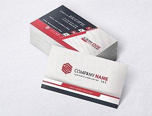 1.000 Cartão de Visita - Modelo 11 - Tamanho 9x5cm - Frente e Verso - Papel Couchê 250g - Verniz Total Frente