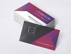 1.000 Cartão de Visita - Modelo 15 - Tamanho 9x5cm - Frente e Verso - Papel Couchê 250g - Verniz Total Frente