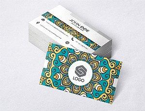 1.000 Cartão de Visita - Modelo 16 - Tamanho 9x5cm - Frente e Verso - Papel Couchê 250g - Verniz Total Frente