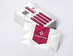 1.000 Cartão de Visita - Modelo 22 - Tamanho 9x5cm - Frente e Verso - Papel Couchê 250g - Verniz Total Frente