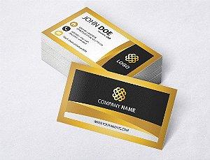 1.000 Cartão de Visita - Modelo 23 - Tamanho 9x5cm - Frente e Verso - Papel Couchê 250g - Verniz Total Frente