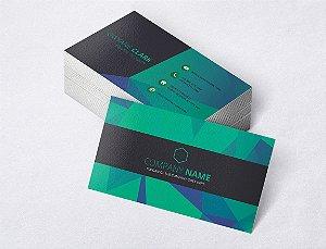 1.000 Cartão de Visita - Modelo 24 - Tamanho 9x5cm - Frente e Verso - Papel Couchê 250g - Verniz Total Frente