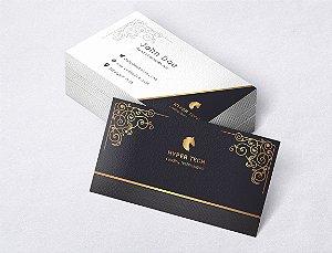 1.000 Cartão de Visita - Modelo 26 - Tamanho 9x5cm - Frente e Verso - Papel Couchê 250g - Verniz Total Frente