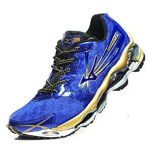Mizuno Wave Prophecy 2 Azul e Dourado