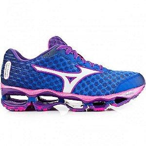 9360178b05f Mizuno wave Prophecy 4 feminino azul e rosa liquidação