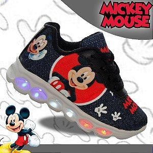 Tenis Infantil Meninos com Led Mickey