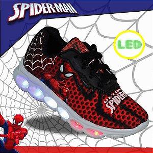 Tenis Infantil Meninos com Led homem aranha