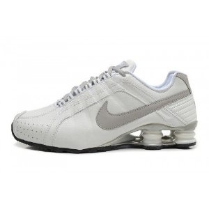 Nike Shox Junior branco e cinza