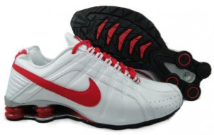 Nike Shox Junior branco e vermelho