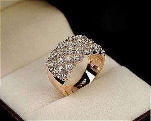 anel feminino banhado a ouro