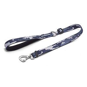 Guia Flex Para Cachorros Camuflado cinza