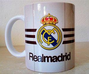 Caneca Real Madrid + Nome Personalizado - Liga Dos Campeões