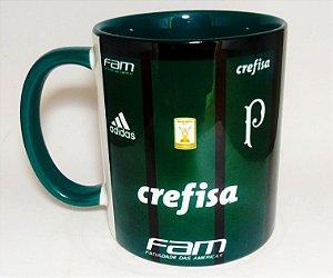 Caneca Camisa Palmeiras Alça E Interior Verde