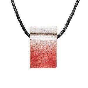 Colar Difusor Pessoal Cerâmica Poliedro Rosé