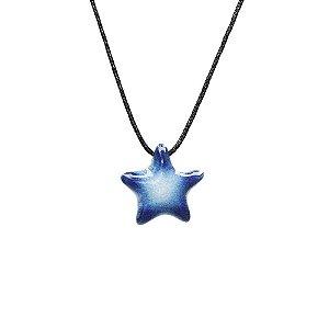 Colar Difusor Pessoal Cerâmica Estrela Azul
