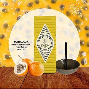 Incenso Natural Terapêutico de Maracujá  Inca Aromas - Caixa com 9 varetas