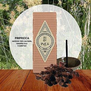Incenso Natural Terapêutico de Priprioca  Inca Aromas - Caixa com 9 varetas