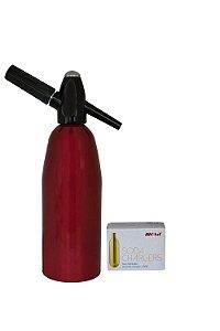 Garrafa Soda Aluminio 1L Vermelho com 10 Cápsulas Best Whip