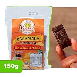 Doce Bananinha com Abacaxi (Zero Açúcar) - Doces da Vovó de São Lourenço 0,150kg