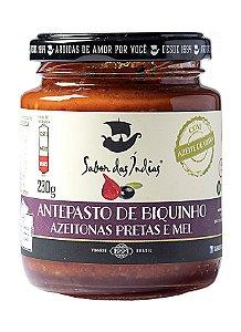 Antepasto de Biquinho com Azeitonas Pretas e Mel - Sabor das Índias - 0,230kg