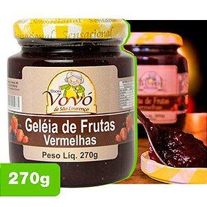 Geleia de Frutas Vermelhas - Doces da Vovó de São Lourenço 0,270kg