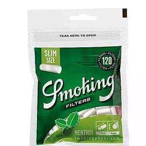 FILTRO PARA CIGARRO SMOKING SLIM MENTHOL PACOTE COM 120