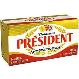 Manteiga Président sem sal tablete 200g