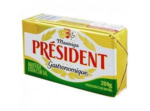 Manteiga Président com sal tablete 200g