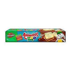 Biscoito Richester Animados Zoo Recheado de Chocolate 130g