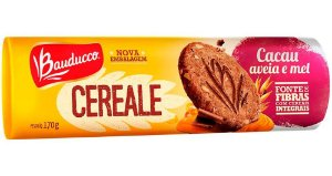 Biscoito Bauducco Cereale de Cacau Aveia e Mel 170g