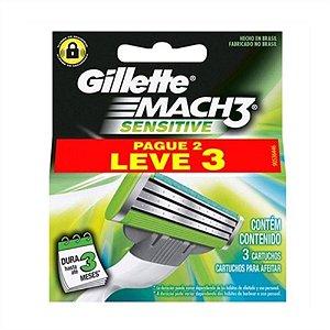 Carga Gilette Mach3 Sensitive Leve 3 Pague 2