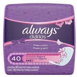 Protetor Diário Always sem Perfume 40un