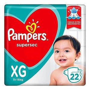 Fralda descartável Pampers Supersec XG 22 un